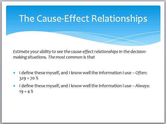 The Cause-Effect Relationships
