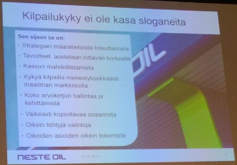 Kilpailukyky - Neste Oil